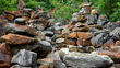 Piled stones - Meili sacred waterfall